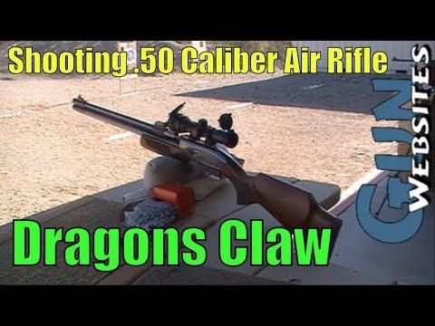 Shooting .50 Caliber Air Rifle, We shoot Dragons Claw 50 cal Airgun by Sam Yang