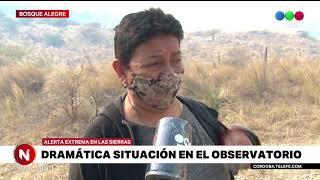 Incendios en Córdoba: la situación en Bosque Alegre