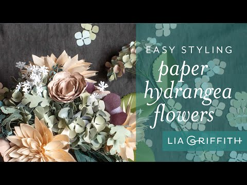 Five Gorgeous Arrangements   How to Arrange Hydrangea Blooms Made from Paper