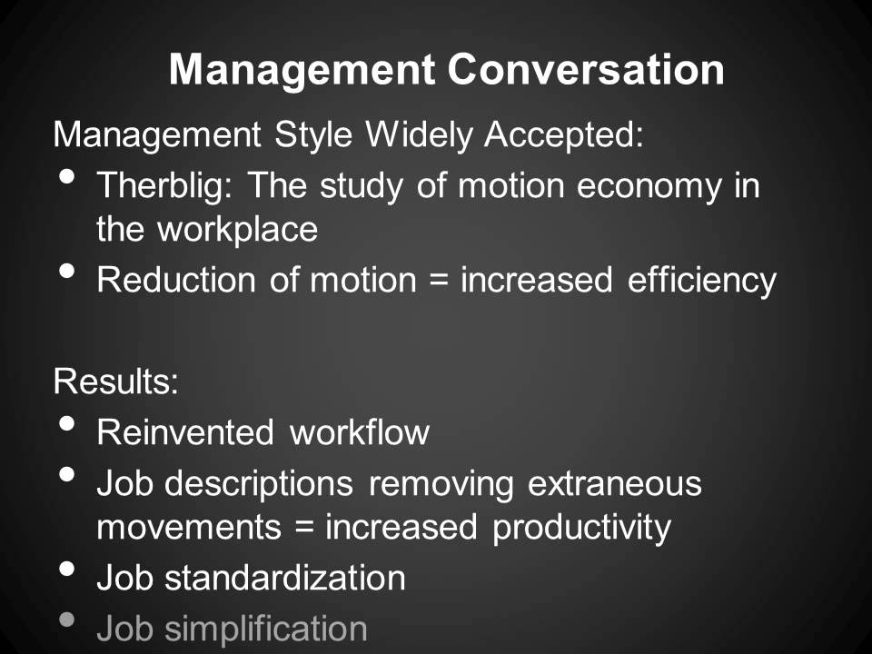 frank lillian gilbreth method time motion studies Frank (1868-1924) and lillian gilbreth (1878-1972) brought together two of the main streams of management thinking over the past 100 years on the one hand, they followed the pioneering work in.