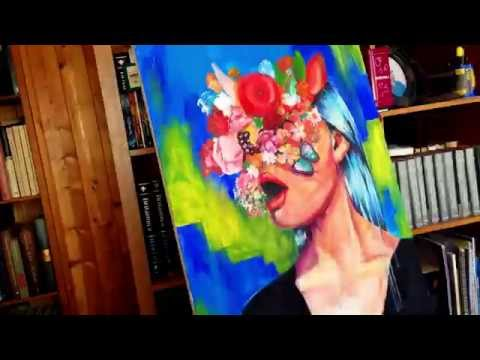 Acrylic on canvas - Speed art