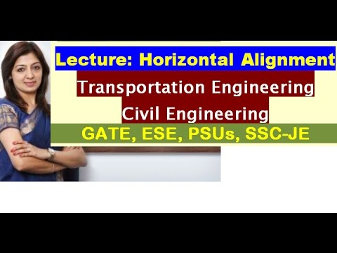 Horizontal Alignment - Civil Engineering - CE (GATE 2018, IES, SSC-JE)