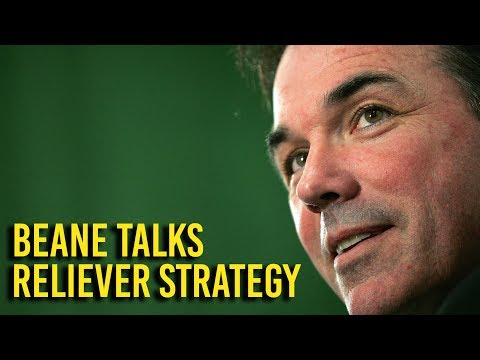 Oakland A's executive Billy Beane discusses reliever strategy