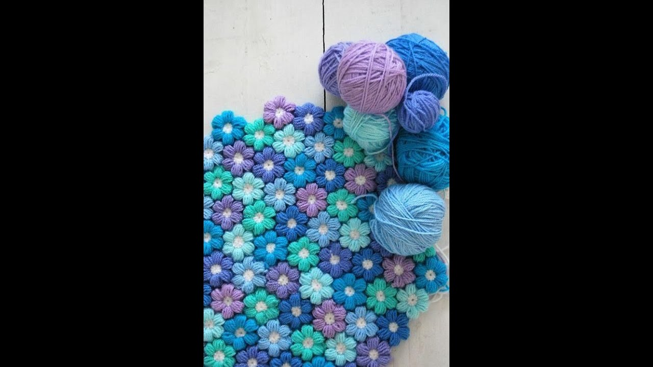 Youtube Crocheting A Blanket : Cours de crochet pour dEbutant / Fleurs facile - YouTube