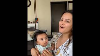 ANITA HASNANDANI PLAYING WITH  CUTE SON 😍|| INSTA STORY