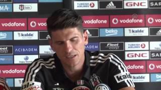 Press conference of Besiktas' new transfer Mario Gomez