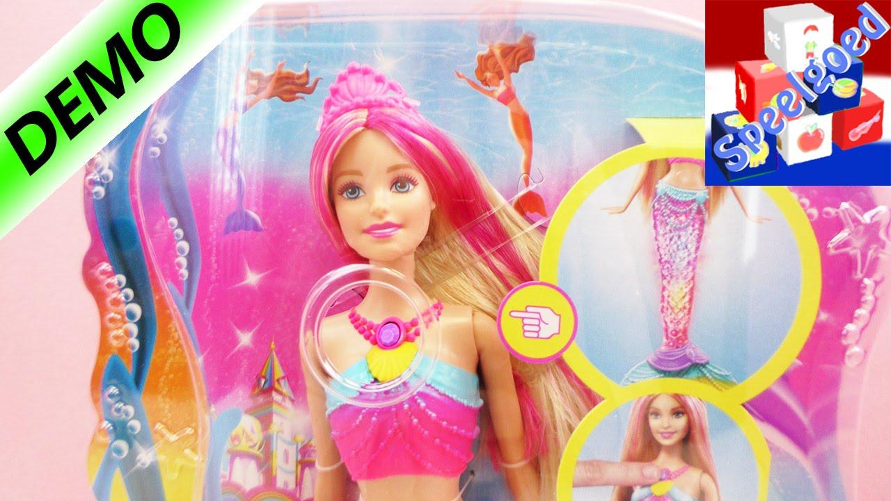 Barbie regenbooglicht zeemeermin  Bont kleurenspel onder ...