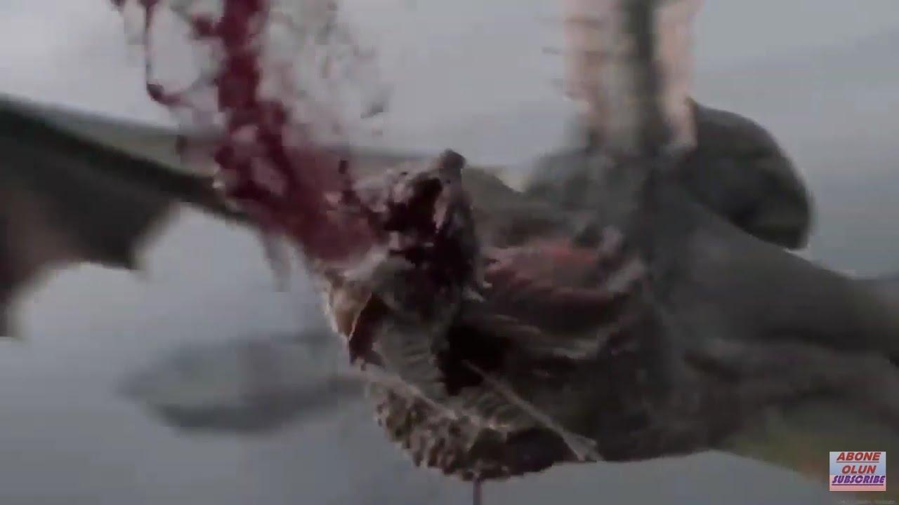 Rhaegal Dragon Death / Game Of Thrones S08E4 / Euron Greyjoy Killed Rhaegal  Dragon :) Dracarys