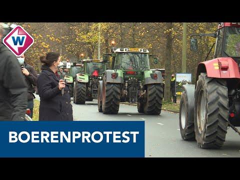 Boeren rijden langs het huis van de koning - OMROEP WEST
