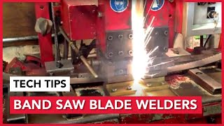 Band Saw Blade Weld Center Useing Ideal Welders
