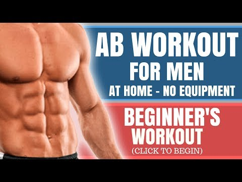 Ab Workout for Men at Home No Equipment (Beginners) - YouTube