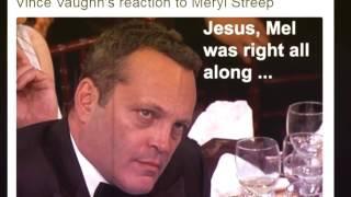 Highlights Golden Globes 2017 - Not Impressed! Mel Gibson and Vince glare daggers through Meryl Str