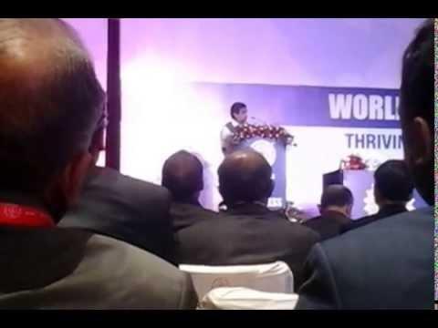 Must see Nitin Gadkari excellent speech on success of Modi govt WHC,Delhi