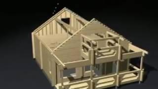 видео Строительство дома из профилированного бруса в процессе