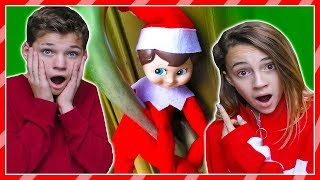 A mysterious elf on the shelf shows up at our door. We take it as a...