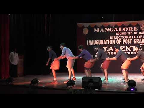 Mangalore university,Talents day 2017, mallu hostel boys dance