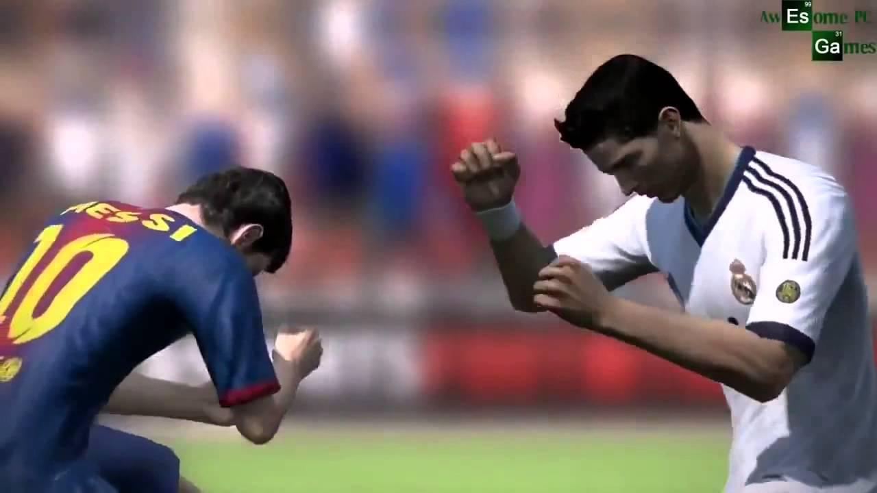 Cristiano Ronaldo vs Messi Briga no Fifa 2014 - YouTube