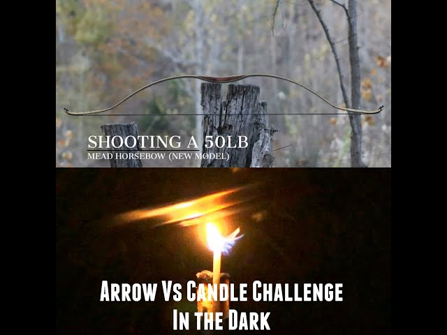Arrow Vs Candle Challenge in the DARK! Intuitive Archery  BOW GIVEAWAY and for Charity!