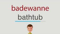 Wie heißt badewanne auf englisch