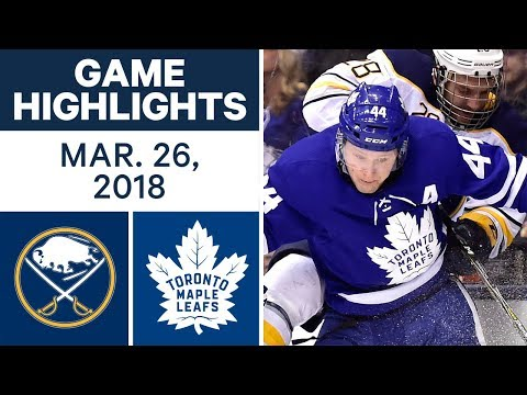 NHL Game Highlights | Sabres vs. Maple Leafs - Mar. 26, 2018