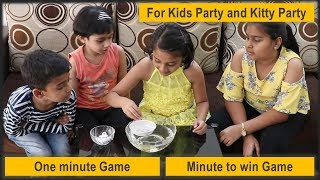 One minute game   New game   Party game for kids party and kitty party   Floating tower