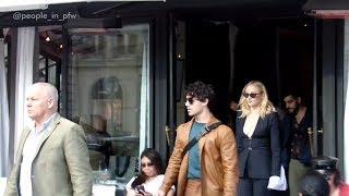 Joe Jonas and Sophie Turner leaving the L'Avenue restaurant - 01.10.2018
