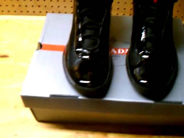 Prada Sneakers Black Patent Leather