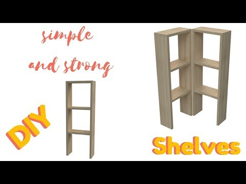 How to Build Easy and Strong wooden Shelves - DIY
