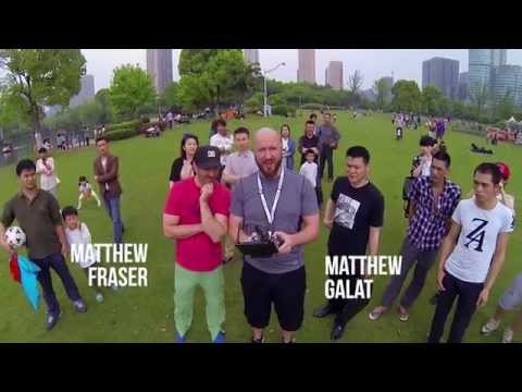 Two Matts Flying a Drone in China