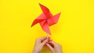 як зробити паперові вертушка