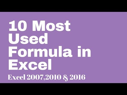10 Most Used Excel Formula ☑️
