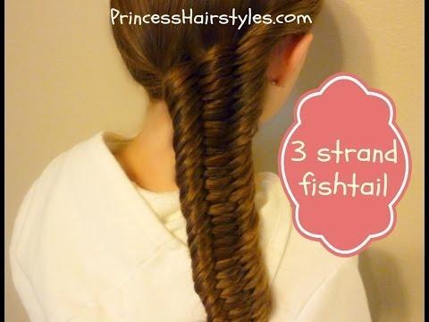 Three (3) Strand Fishtail Braid Tutorial