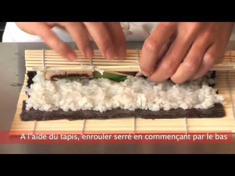 Recette japonaise maki california roll sur www a vo doovi - Comment faire des sushi ...