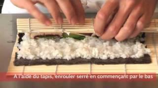 Cuisiner futé: rouler des sushis