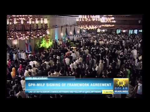 Bangsamoro Framework Agreement is forged in Malacañan - Part 1/7
