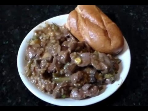 Chicken Gizzards Rice And Gravy Southern Style Soul Food Youtube