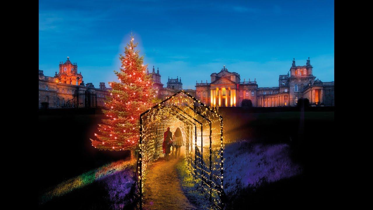 'Christmas at Blenheim' Festive Lights Trail - YouTube