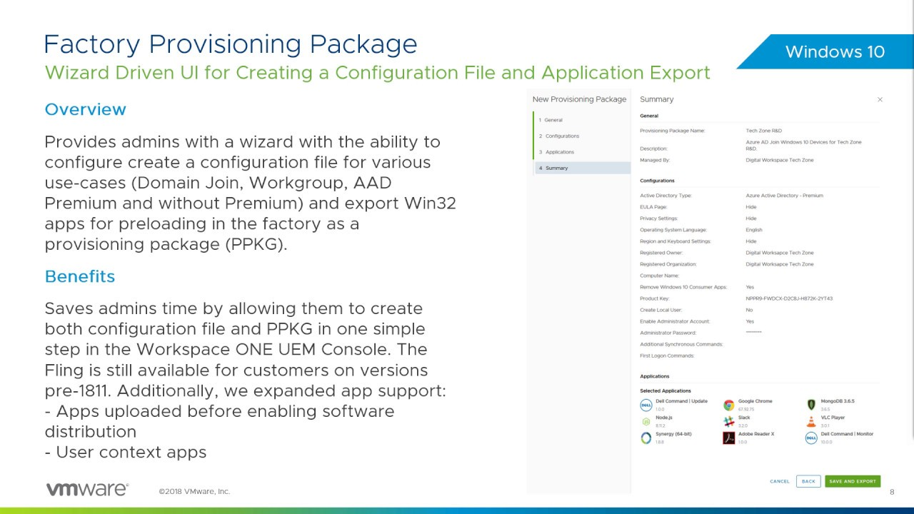 Dell Provisioning: VMware Workspace ONE Operational Tutorial | VMware