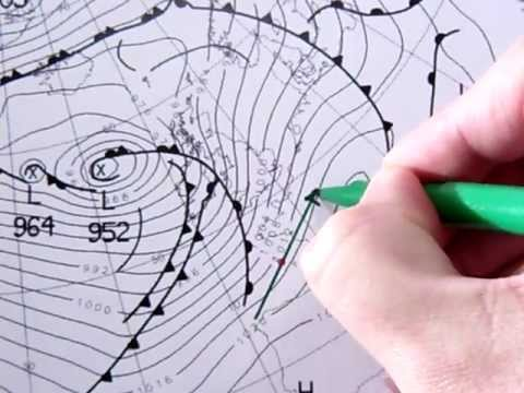 Synoptic chart wind interpretation