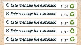 El Truco De WhatsApp Para Leer Cualquier Mensaje Eliminado 2019! thumbnail