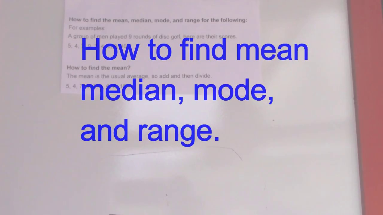 2017 Ged Math, Finding Mean, Median, Mode And Range