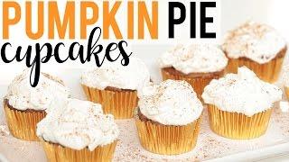 PUMPKIN PIE CUPCAKES | Baking with Meghan