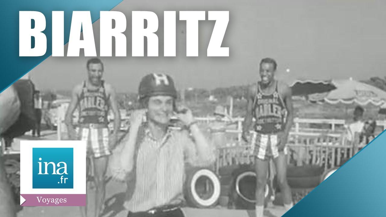 Claude François et les Harlem Globetrotters en vacances à Biarritz | Archive INA
