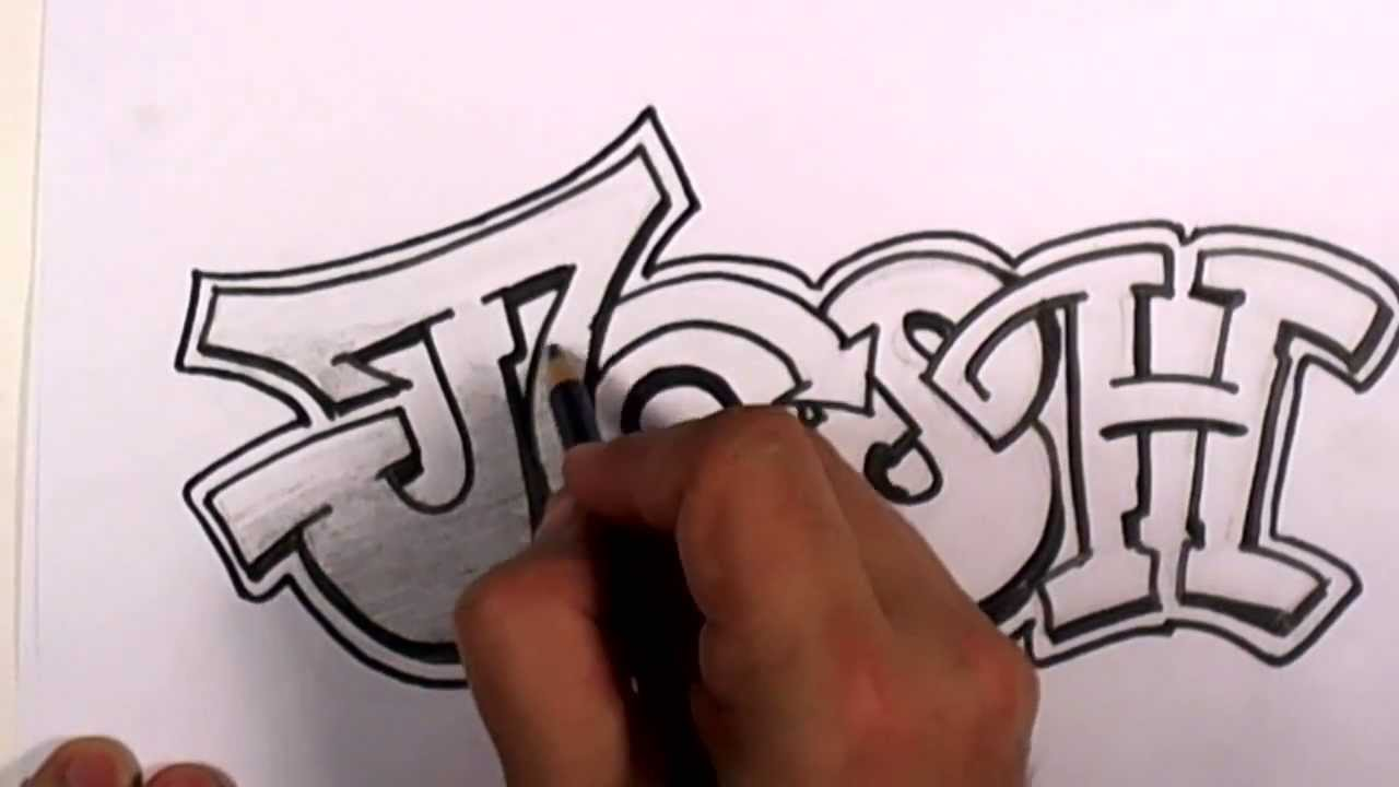 Graffiti writing josh name design 3 in 50 names promotion mat its youtube uninterrupted altavistaventures Image collections