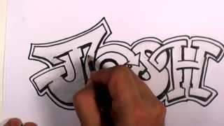 Download Video Graffiti Writing Josh Name Design - #3 in 50 Names Promotion | MAT MP3 3GP MP4
