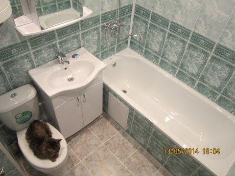 Экономный ремонт в ванной самой дешёвой плиткой на свете