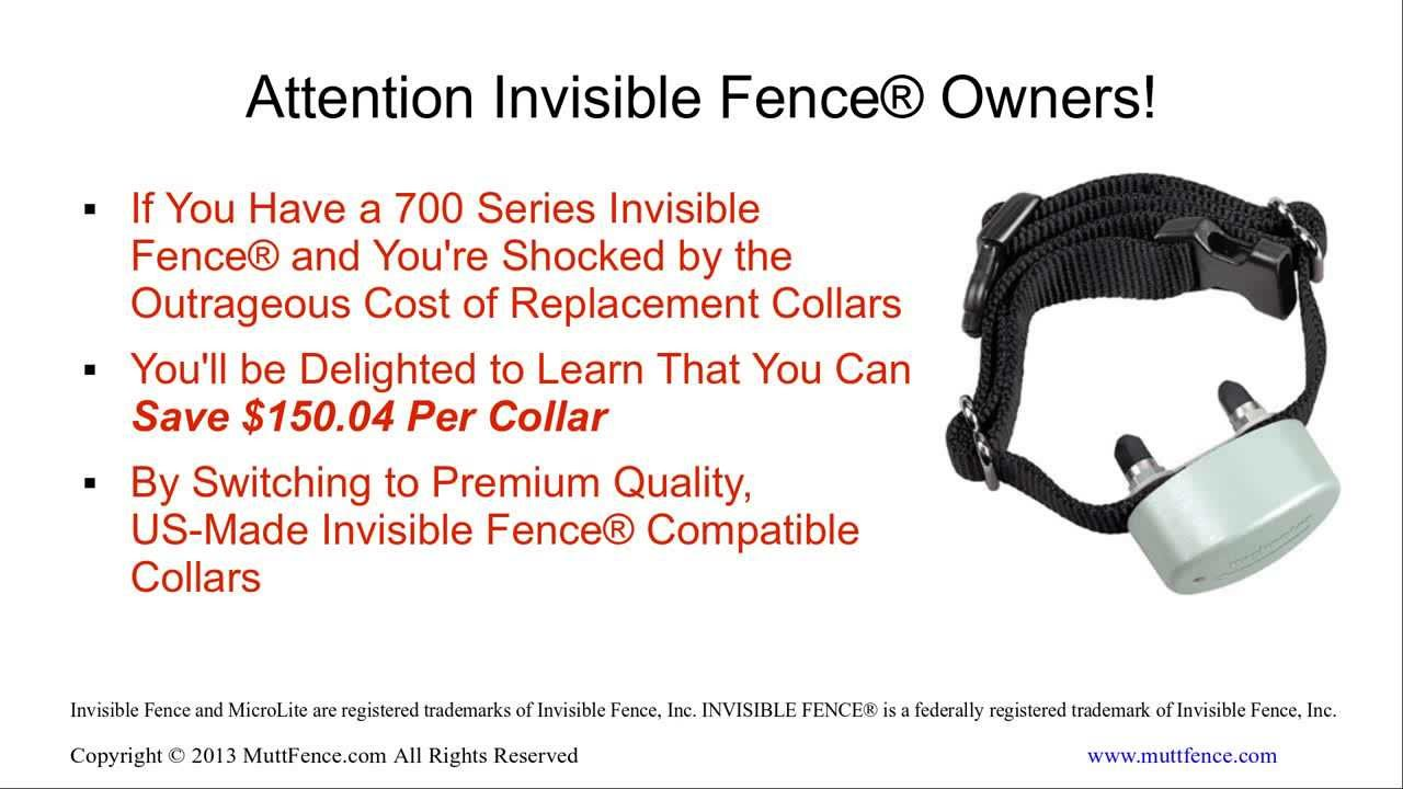 invisible fence collar. Invisible Fence® Collar - Save 50% On Compatible Replacement Collars For 700 Series YouTube Fence