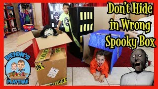DON'T HIDE IN WRONG SPOOKY BOX | DEION'S PLAYTIME