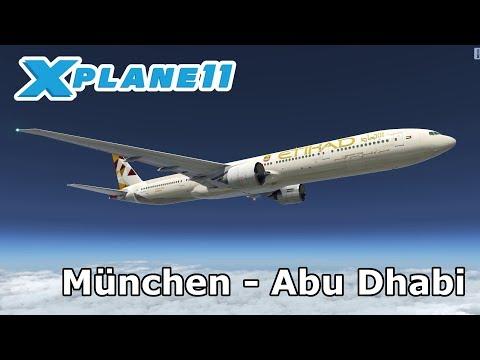 X Plane 11 | München (EDDM) - Abu Dhabi (OMAA) | Etihad