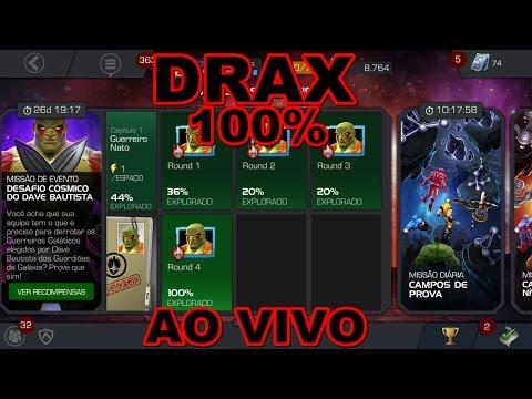 COMPLETANDO 100% MISSÃO DO DRAX